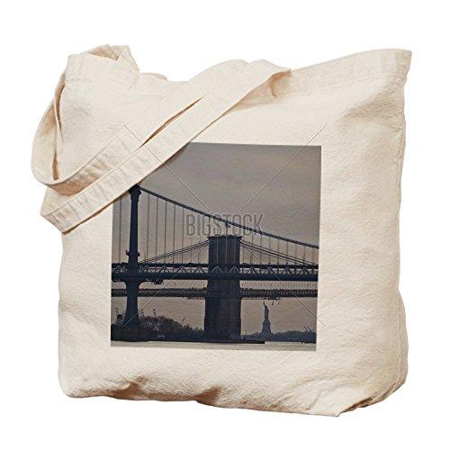 CafePress - Brooklyn Bridge - Natural Canvas Tote Bag, Cloth Shopping - La Downtown Center Shopping