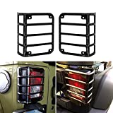 DIYTuning Euro Tail lamp light Cover Trim Guards Protector for Jeep Wrangler JK JKU Unlimited Rubicon Sahara Sport Exterior Accessories Parts 2007 2008 2009 2010 2011 2012 2013 2014 2015 2016 2017
