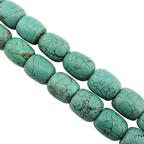 COIRIS 15'' Strand 13x11mm Natural Turquoise Gemstone Barrel Beads Loose Beads For Jewelry Making (ZS1125)