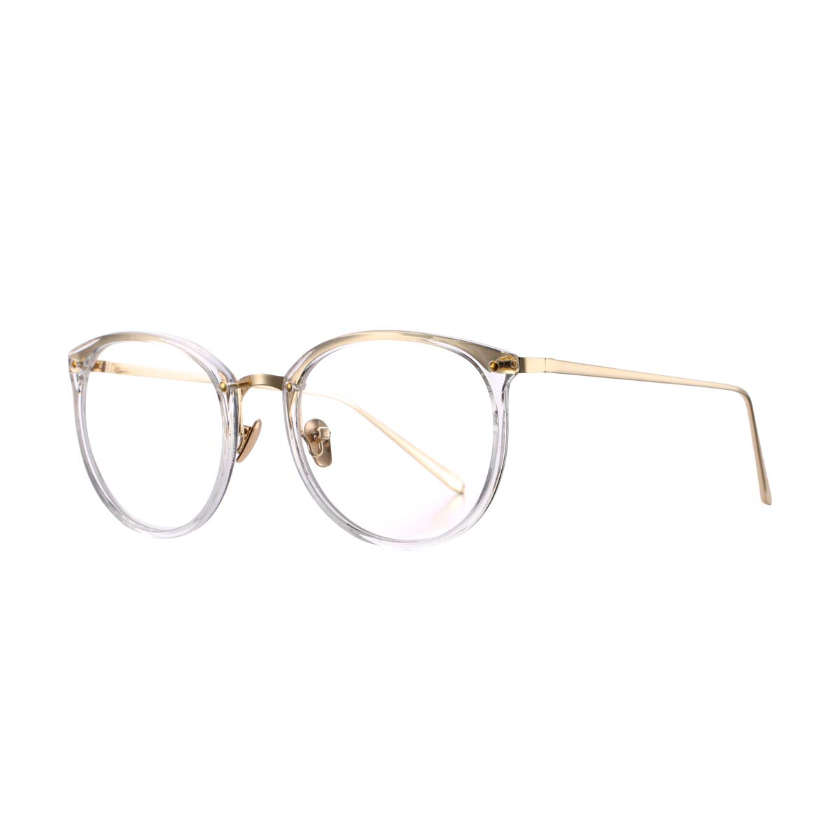 aaace045168 Amazon.com  AZORB Womens Vitage Round Eyeglasses Non-Prescription Glasses  Frame (Transparent)  Shoes