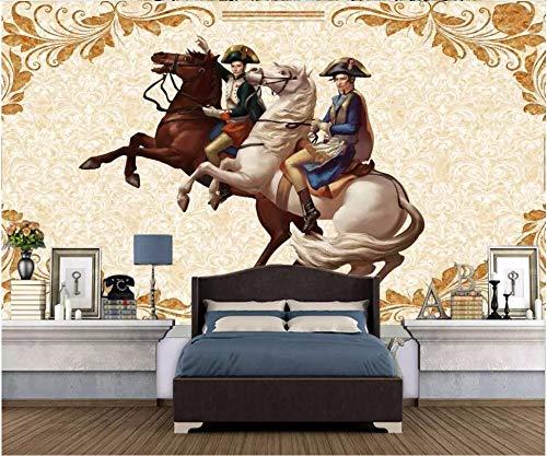 MBWLKJ 3D Wallpaper Custom Mural 3D Photo Wallpaper European Napoleon Hand Painted Tv Living Room Home Decor 3D Wall Murals ()