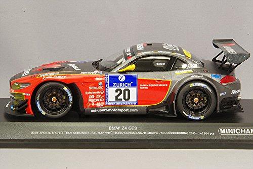 Minichamps 151152320 BMW Z4 GT3 – 24h 24h 24h Läppen-Nürburgring 2015 – Echelle 1 18, grau rot bc21d3