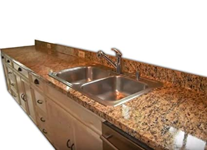 EZ FAUX DECOR Self Adhesive Marble Venetian Gold Granite Roll Kitchen  Countertop Instant Update. Heat Resistant Removable Thick Waterproof Vinyl  ...