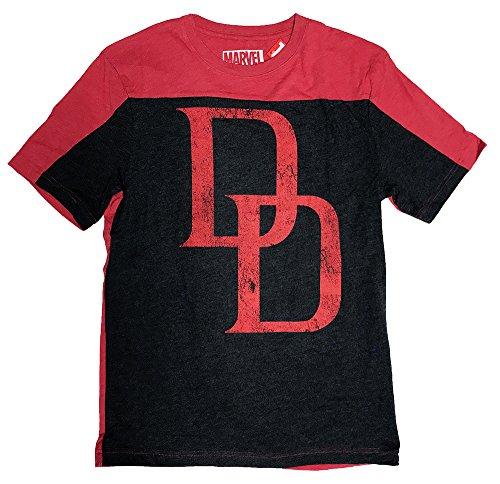 Hybrid Daredevil Logo Two-Tone Men's T-Shirt XL]()