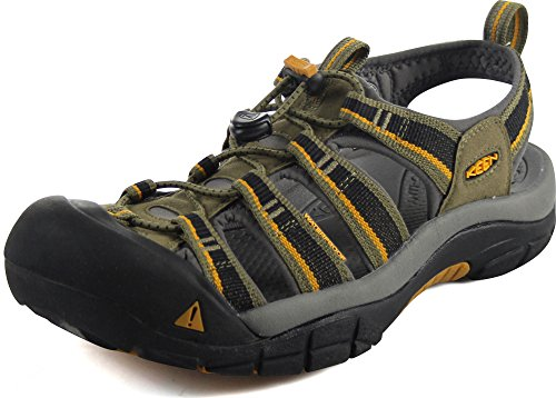 KEEN Men's Newport H2 Sandal, Burnt Olive/Golden Yellow, 7 M US (Tip Skies Dual)