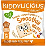 Kiddylicious Mango, Banana and Passion Fruit Smoothie Melts 6g, (Pack of 16)