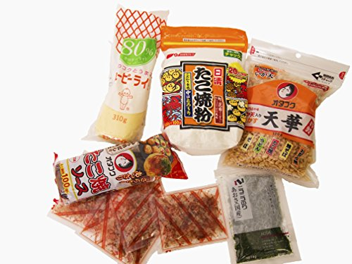 Otafuku sauce + Otafuku Tenkasu + Nisshin Takoyaki kit + Aonori Flakes (Seaweed) for Takoyaki