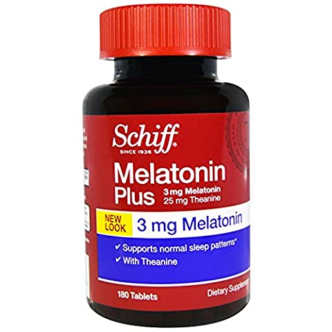 Schiff, Melatonin Plus, 3 mg, 180 Tablets - 2pc - Schiff Melatonin Plus
