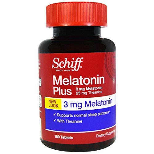 Amazon.com : Schiff, Melatonin Plus, 3 mg, 180 Tablets - 2pc : Grocery & Gourmet Food