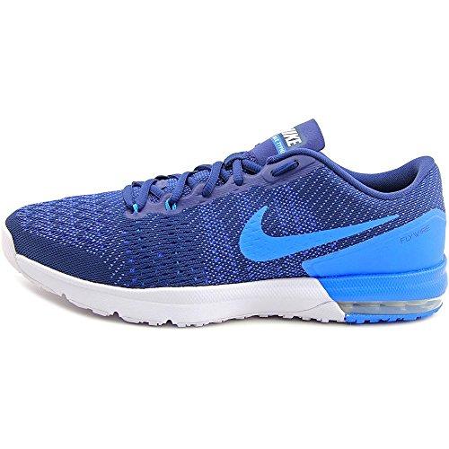 Nike Air Max Typha, Zapatillas De Deporte para Hombre Azul / Blanco (Mid Navy / White-Rcr Bl-Pht Bl-)