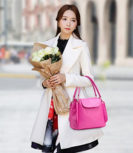 Para Elegante Bolso Hombro Capacidad Dcspring Gran Mujer Mano Negro Bandolera Moda Piel Pu Shopper De x7fnPwqfdY