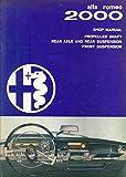 1962 Alfa Romeo 2000 Propeller Axle Suspension ORIGINAL Repair Shop Manual