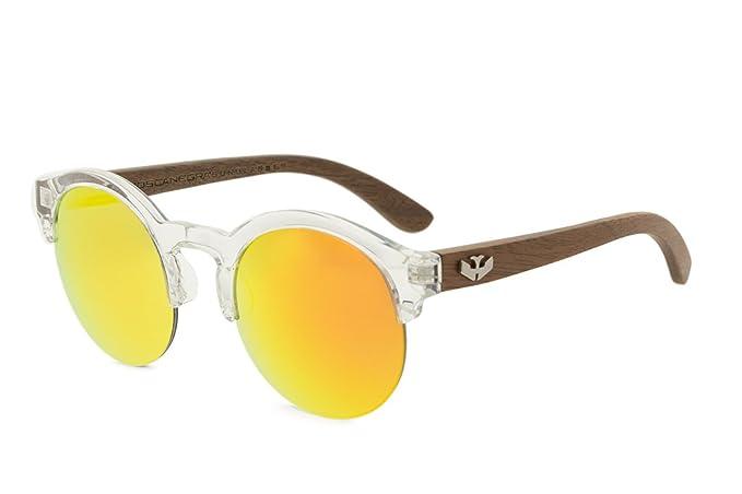 Gafas de sol de madera MOSCA NEGRA modelo MIX NOON Orange ...