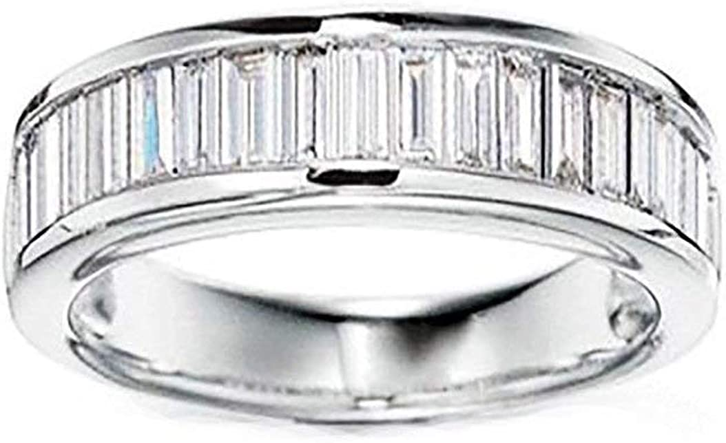 Ginger Lyne Collection Eternity Baguettes Anniversary Wedding Band Ring for Women