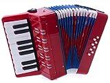 D\'Luca G104-RD Kids Piano Accordion 17 Keys 8 Bass, Red