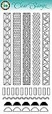 Balzer Designs Clear Stamps 4''X8'' Sheet-Pattern Strips