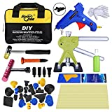 Super PDR 46pcs Paintless Dent Repair Tools Kit - Dent Lifter Dent Removal Pull PDR Tool Bag