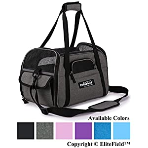 EliteField Soft Sided Pet Carrier (3 Year Warranty, Airline Approved), Multiple Sizes and Colors Available (Medium: 17… Click on image for further info.