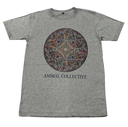 [Animal Collective rock indie punk diamond T-Shirt Gray / GV11.3 size L] (Mens Disco Jumpsuit)