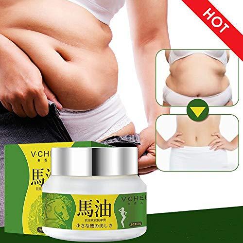 - Wffo 30g Horse Oil Collagen Firming Thin Waist Thin legs Massage Slimming Cream (White)