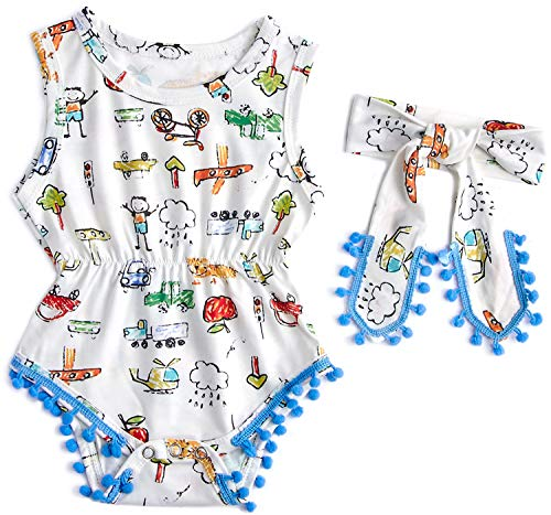 Stick Figure Designs - 0-3 Months Car Truck Stick Figure Design Outdoor Newborn Baby Girl Clothes White
