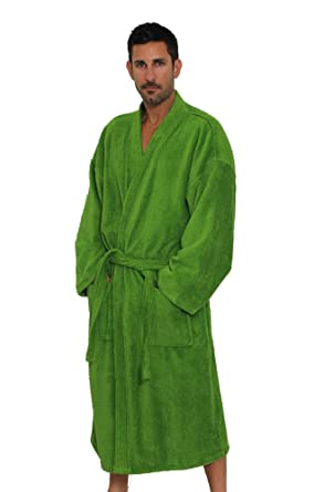 dc729fdd35 Apple Green Cotton Mens and Womens Robe