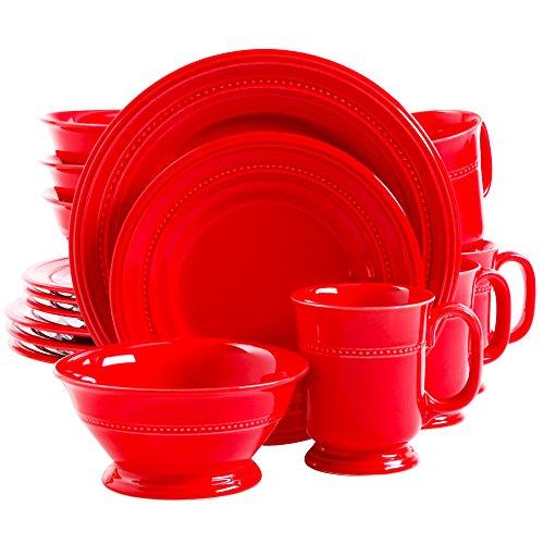 Gibson Barberware Red 16-piece Dinnerware Set