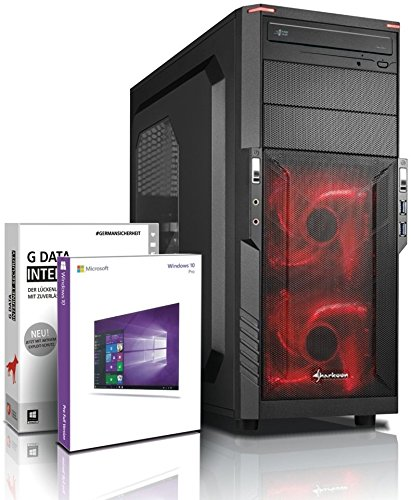 Quad Gaming/Multimedia-PC mit 3 Jahren Garantie! - AMD Quad Core A10-7860K 4x 4.00 GHz Turbo - AMD Radeon R7 - 16GB DDR3 - 2TB - Windows 10 - Gaming Computer - Desktop PC - Rechner #5127