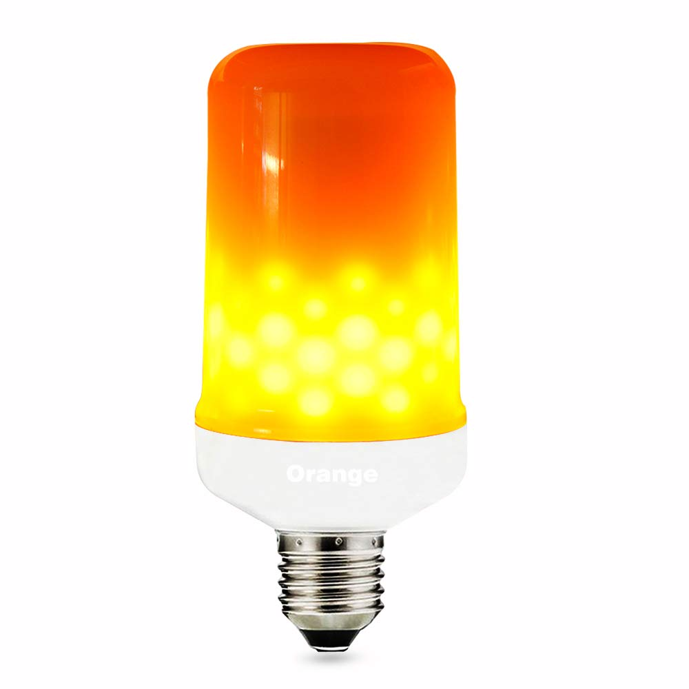LED Flickering Flame Bulb E26 Base, LED Flame Effect Fire Light Bulbs for Decoration Lighting on Christmas Halloween Holiday Party Pack of 1 Unit