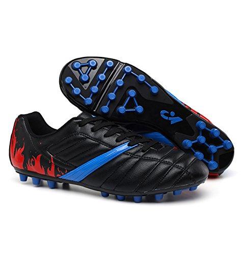 Xing Lin Fußballschuhe Big Spike Fußball Schuhe Junior High School Kick Spiel Schuhe Blau 12 Jahre 13 Jahre 37 Yards, 38 Yards, 39 Yards 35 Schwarz