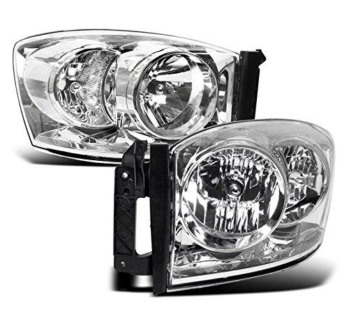 ZMAUTOPARTS Dodge Ram 1500 2500 3500 Pickup Truck Crystal Headlight Lamp Chrome New