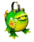 Mayrich 51251 Metal Frog with Flowers Watering Can 8'' H
