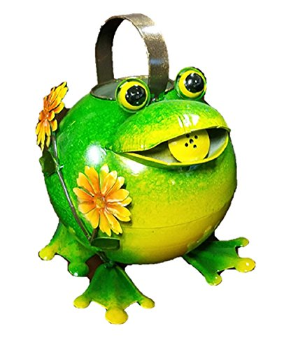 Mayrich 51251 Metal Frog with Flowers Watering Can 8'' H by Mayrich