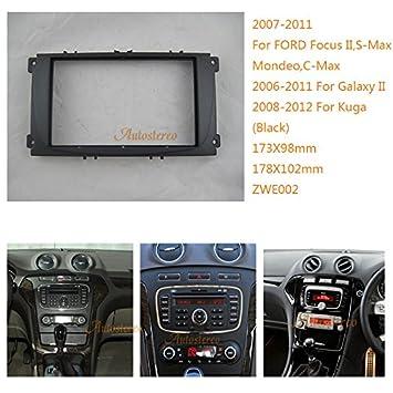 zwnav coche Audio Radio Panel de marco de montaje de radio para Ford Focus II,