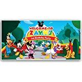 Mickey Mouse Clubhouse Birthday Banner Personalized Party Decoration Cake Table Backdrop - RED
