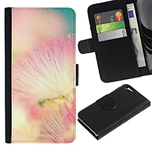 Apple iPhone 5 / iPhone 5S Modelo colorido cuero carpeta tirón caso cubierta piel Holster Funda protección - Pink White Teal Nature Spring