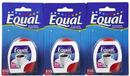 Equal Artificial Sweetener Tabs - 100 ct - 3 pk (Equal Tabs)