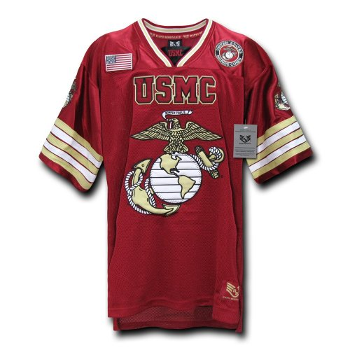 Rapiddominance USMC Football Jersey, Cardinal, (Twill Football Jersey)