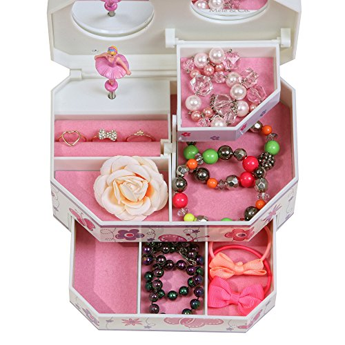 Mele & Co.. Kelsey Girl's Musical Ballerina Jewelry Box (Butterfly and Flower Design) by Mele & Co. (Image #2)