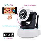 Shenboxun 720P WiFi Security IP Camera Internet Surveillance Camera Built-in Microphone, Pan/Tilt with 2-Way Audio,Baby Video Monitor Nanny Cam, Night Vision Wireless Camera IP Webcam