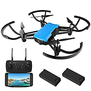 REDPAWZ R020 WiFi FPV Drone with 720P HD Camera Wide-Angle Live Video, 2.4GHz 6-Gyro RTF RC Quadcopter for Kids & Beginners, Altitude Hold, APP Gravity Control, 2Pcs Modular Battery(40min Flying Time)