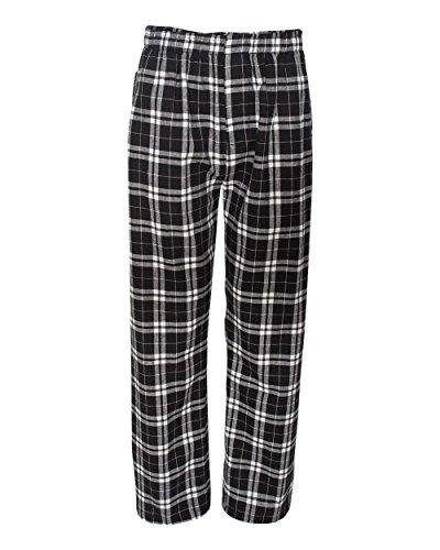 boxercraft F48 Adult Classic Flannel Boxers - Black/White - L