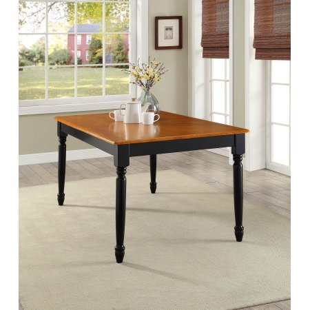 (Better Homes Gardens Autumn Lane Farmhouse Dining Table | Black Oak- Easy to Assemble)