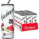 Fizzique Sparkling Protein Water, Strawberry Watermelon, 12 Count