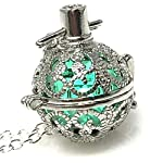 UMBRELLALABORATORY Steampunk FIRE Necklace - Pendant Glow Locket - Great Gifts for Teen Girls, Mother, Father, Little Girls Jewelry 6