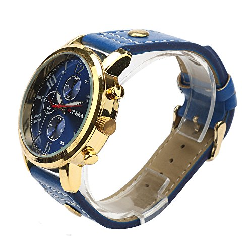22698599859 Mens Quartz Watches COOKI Clearance Analog Cheap Watches on Sale Leather  Wrist Watches for Men-