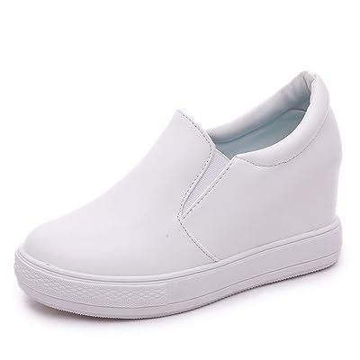 A&N Ladies Platform Heighten Inside No-Closure Urethane Oxfords-Shoes
