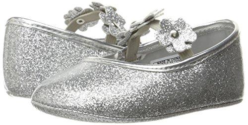 Pictures of Nine West Girls' PHOEBEFLOR Flat Silver 3 Silver 3 M US Infant 4