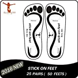 25 Pairs Spray Tan Feet Pads Stick on Feet for Sunless Airbrush Tanning