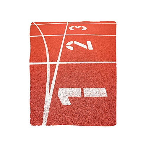 Microfiber Stadium Jacket (VROSELV Custom Blanket Olympics Collection Close Up of Numbers on Racetrack Lines Stadium Ground Determination Success Art Bedroom Living Room Dorm Coral White)